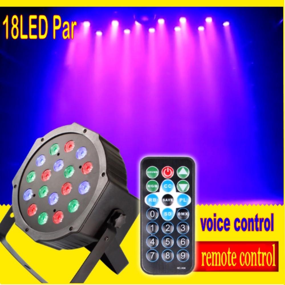 Tinhofire Remote Control 18W 18 LED Stage Light High Power RGB Par Light DMX512 Master Slave LED Flat DJ Controller Discos KTV dmx512 digital display 24ch dmx address controller dc5v 24v each ch max 3a 8 groups rgb controller