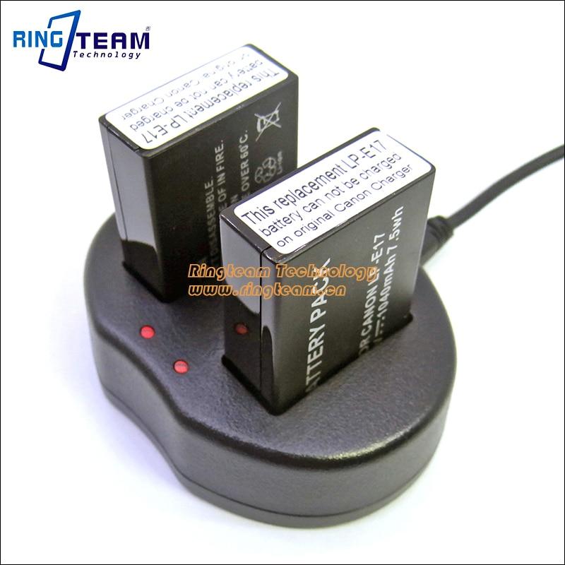 Dual-Channel USB Charger LCE17 LC-E17 LC-E17E for Canon LP-E17 Battery EOS Rebel T6i 750D T6s 760D 77D 200D M3 M5 Digital Camera