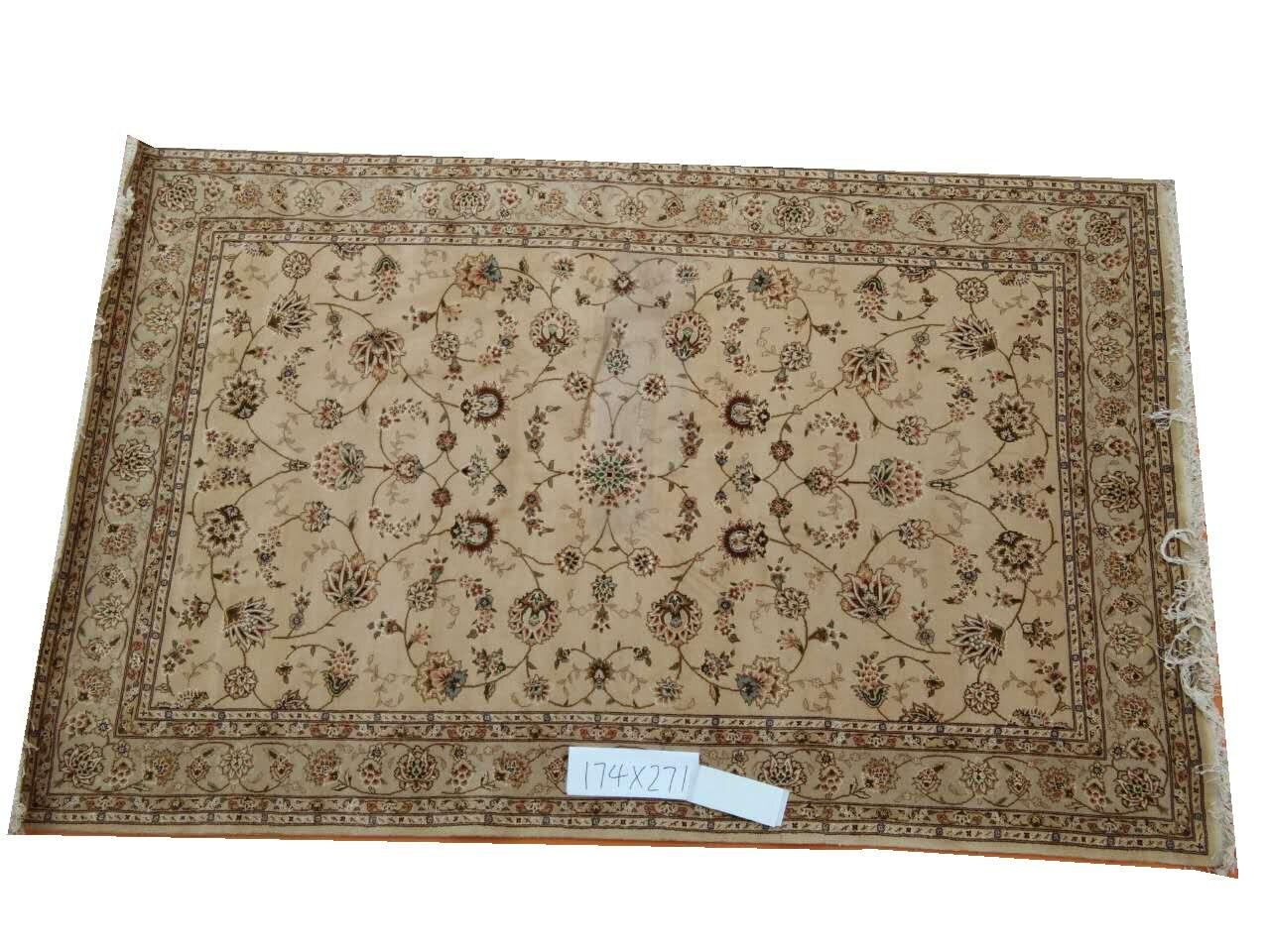 Tapis persan Oriental en laine et soie noué à la main tapis persan fait main 11 6x9gc157peryg9