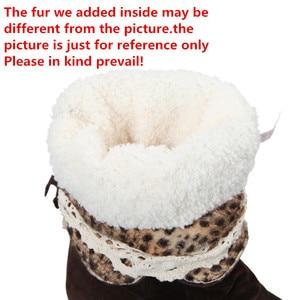 Image 4 - Swyivy Hoge Womens Laarzen Wig Schoenen Vrouw 2019 Warm Pluche Fur Snowboots Voor Vrouwen Winter Schoenen Sokje Vrouw 2019 46 Booties
