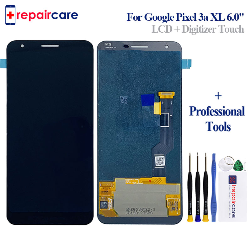 Para O Google Pixel 3A XL LCD Screen Display Touch Screen Digitador Assembléia Substituição Para O Google 3A LCD do Pixel Pixel G020F LCD