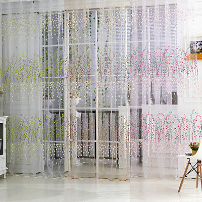 solid color decorative string curtain 100cm x 270cm brown pink green classic line curtain window floral vanlance room divider