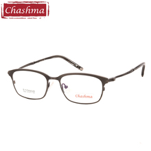 Chashma Brand Top Quality Fashion Full Rimmed Women and Men Optical Eyewear Small Face Titanium Spectacles for RX Lenses