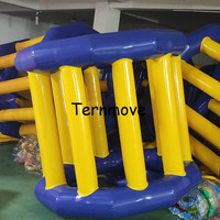 Inflatable Water Wheel Roller For Fun Aqua Park Rental Using water toys inflatable hamster wheel for sale with free pump
