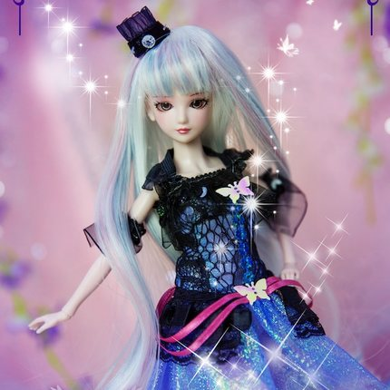 Nueva llegada 11 ''muñeca BJD 14 muñecas articuladas pelo de princesa + maquillaje + paño + zapatos-in Muñecas from Juguetes y pasatiempos    1