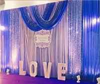 Ücretsiz kargo 3 M x 6 M Pullu düğün zemin perde olay parti dekor özelleştirilmiş düğün sahne arka plan ipek örtü dekorasyon
