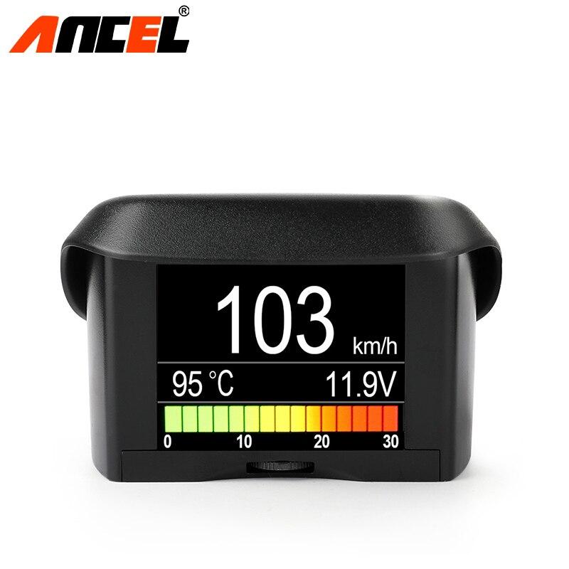 ANCEL A202 Smart OBD2 Auf Board Computer HUD Gauge Auto Tacho Wasser Kühlmittel Temperatur Kraftstoff Verbrauch Spannung Display