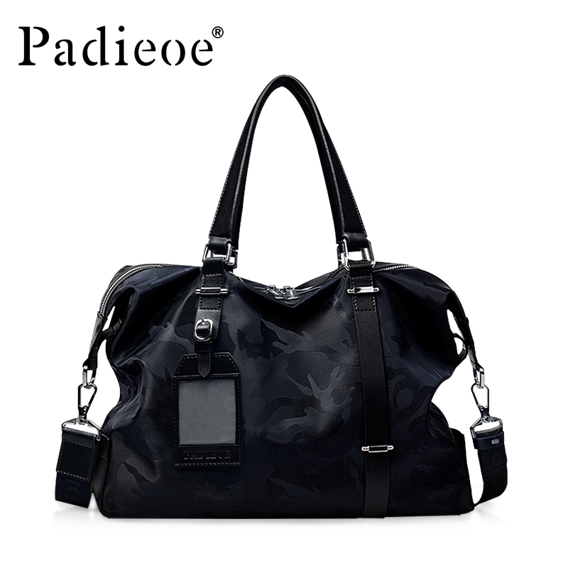 Padieoe Brand Tote Bag Handbag Men Nylon Briefcase New Fashion Shoulder Bags Business Travel Crossbody Bag Men's Messenger Bag padieoe famous brand handbag men shoulder bags leather messenger bag business briefcase laptop bag men s tote bag free shipping