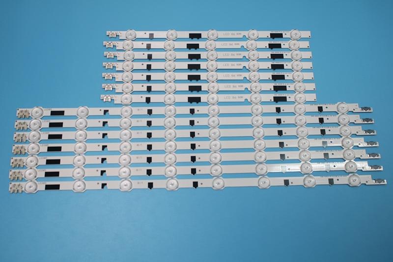 New100 14 Pieces 7R 7L UA40F5000ARXXR UA40F6300AJXXR LED strip for SAMSUNG 2013SVS40F L8 L5 D2GE 400SCA