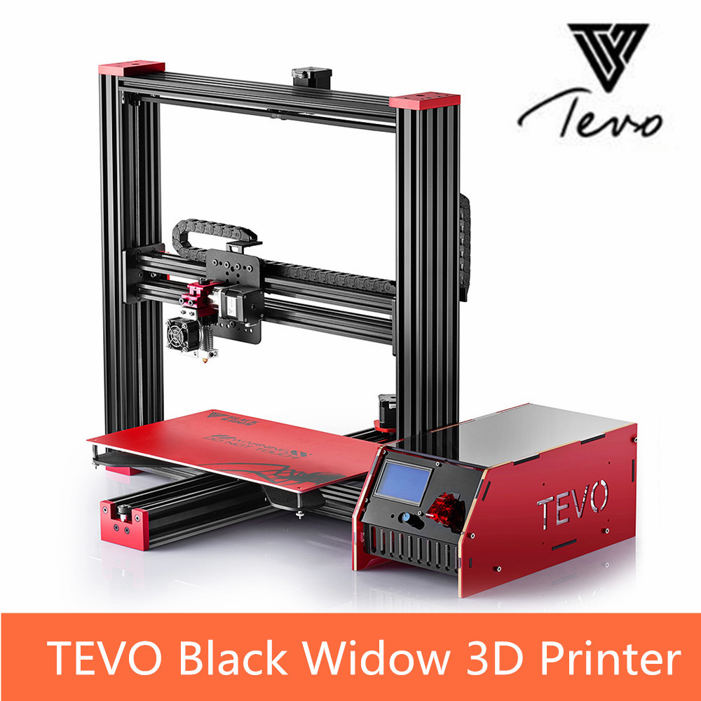 TEVO Black Widow 3D Printer Kit LCD Screen Dsipaly 370 x 250 x 300mm Large Printing Area DIY Printer Support SD card new arrival x p7 3d printer diy kit 1 75mm 0 4mm support abs pla hips 1286 4mini lcd screen