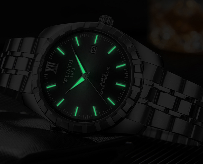 Homens Relógio de Quartzo Marca de Luxo