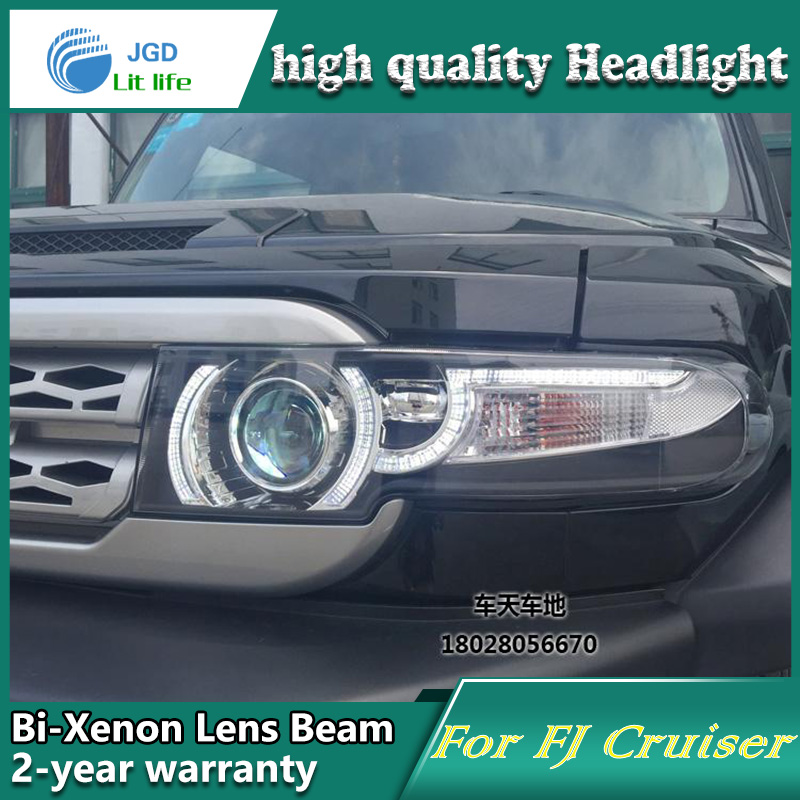 Toyota FJ Cruiser üçün 2008-2014 LED işıq fənərləri DRL - Avtomobil işıqları - Fotoqrafiya 2