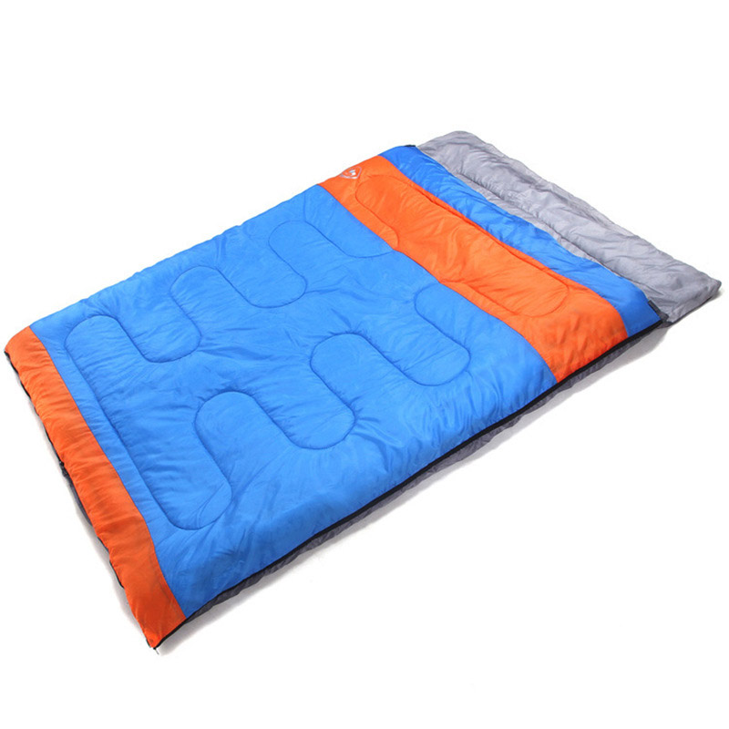 2 persons adult Autumn winter thickening outdoor camping cotton sleeping bag 220 * 150 cm hewolf sleeping bag outdoor cotton lunch break room camping adult spring autumn envelope thickening 2 persons