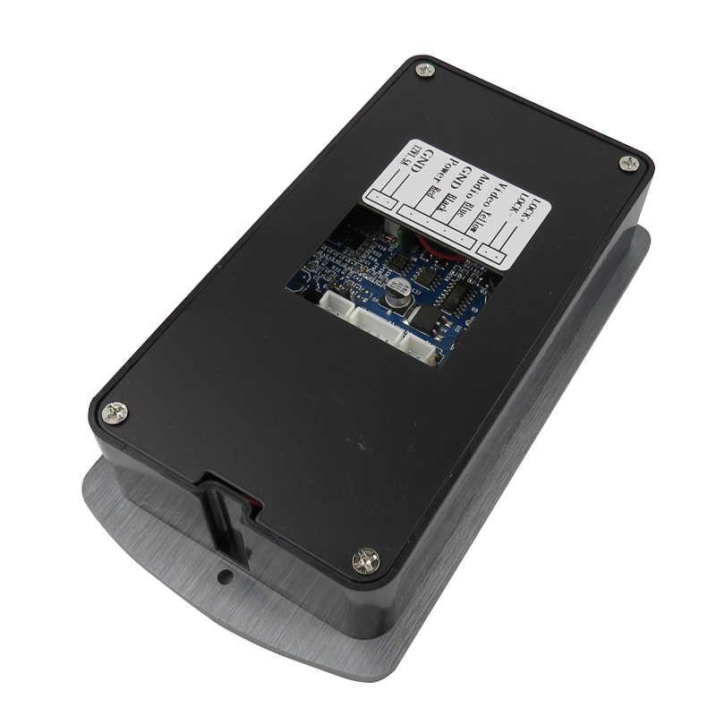 """جديد 7 """"هاتف باب ملون بفيديو نظام اتصال داخلي 2 الأبيض شاشات + 1 للماء RFID الوصول كاميرا + الكهربائية قفل شحن مجاني"""