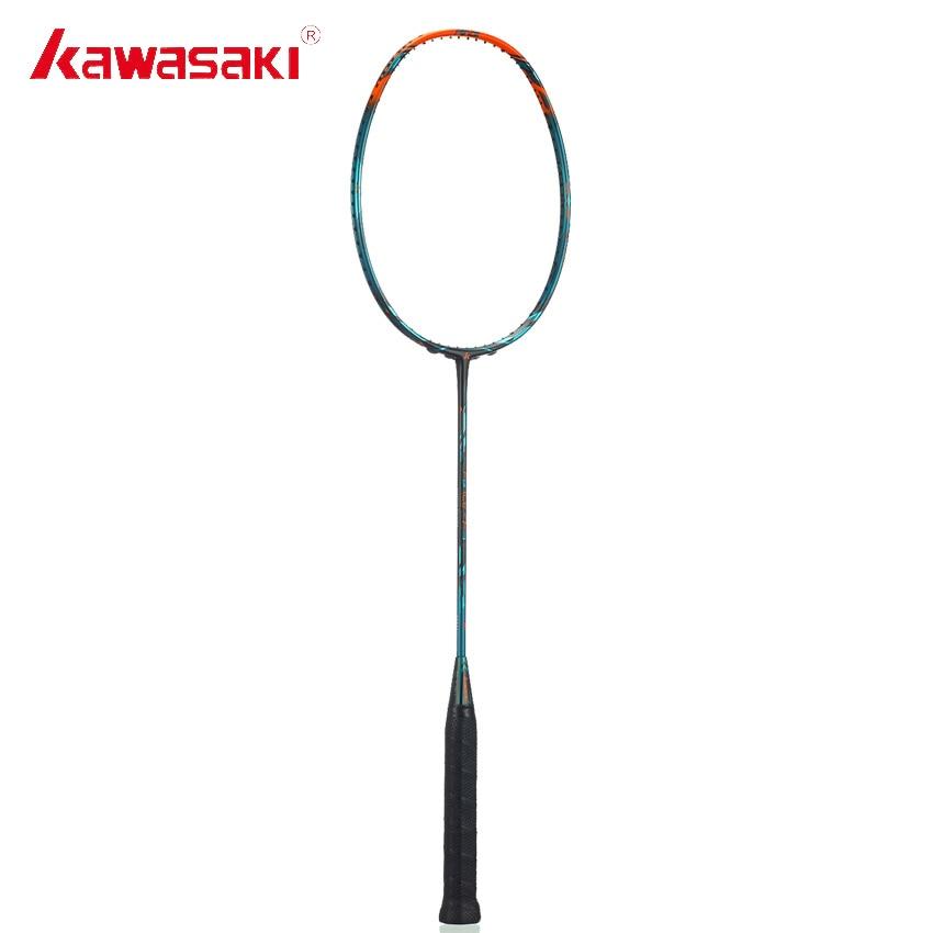Оригинальный Kawasaki бренд ракетки для бадминтона силы F9 наступление Тип 46 т углерода ракетки рамка для профессионального игрока