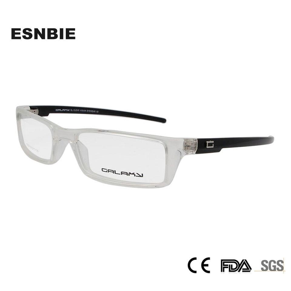 ESNBIE TR90 플라스틱 티타늄 안경 프레임 남성 안경 프레임 남자 처방 안경 전체 광학 프레임 lunette 드 vue