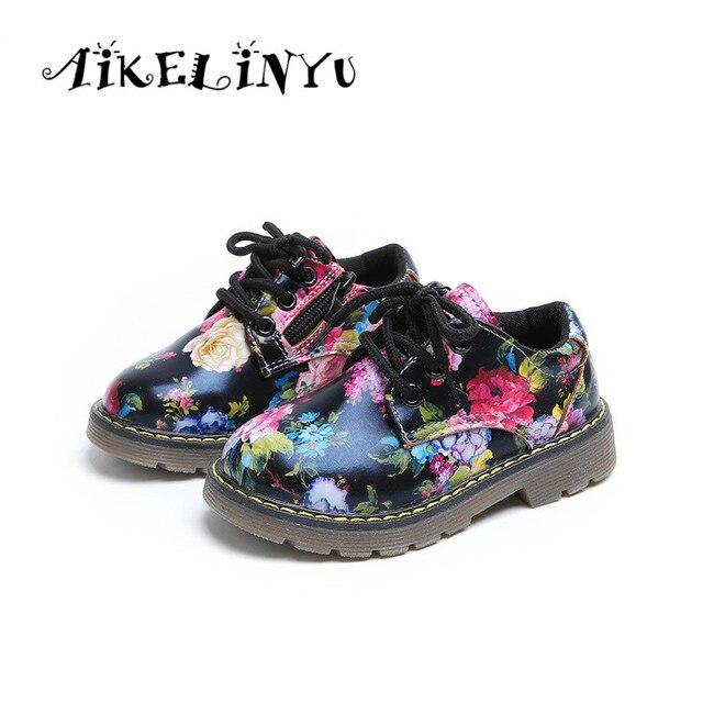 Children Leather Girl 2018 Boy Shoes Flower Princess Autumn vwwq58zS