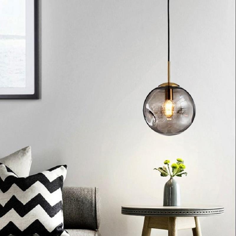 Lukloy Glass Ball Pendant Light Hanging Lamp Glass Globe Lighting Ceiling Pendant Lamp Bedroom Led Lights Bedside Lamp Shades Pendant Lights Aliexpress