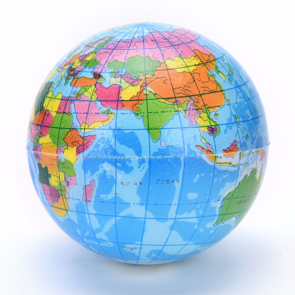 World atlas geography map earth globe stress relief bouncy foam world atlas geography map earth globe stress relief bouncy foam ball kids toy in toy balls from toys hobbies on aliexpress alibaba group gumiabroncs Images