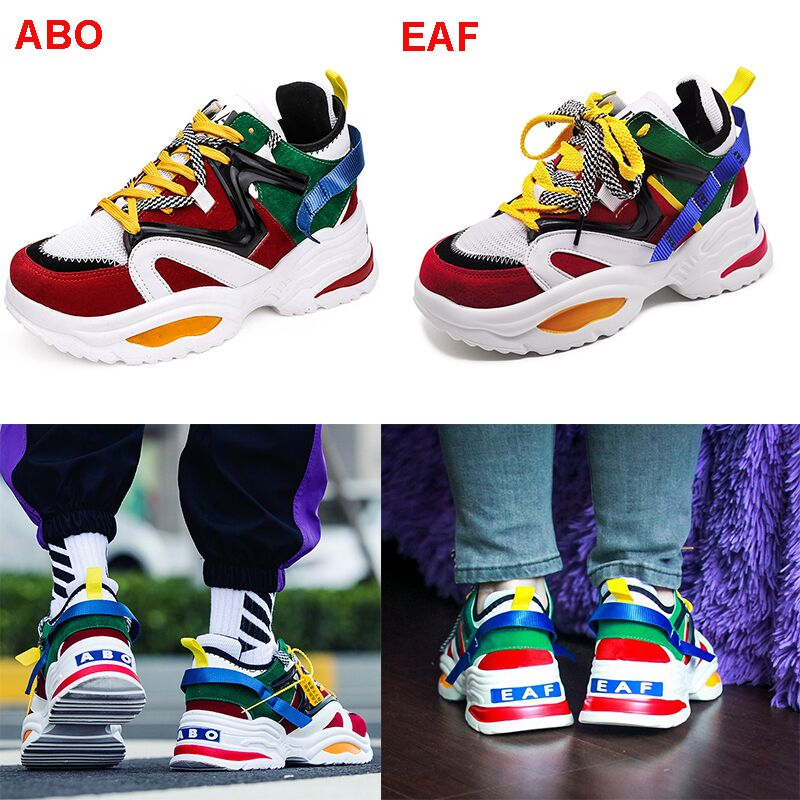 HTB1my5ga6zuK1RjSspeq6ziHVXab Sooneeya Four Seasons Youth Fashion Trend Shoes Men Casual Ins Hot Sell Sneakers Men New Colorful Dad Shoes Male Big Size 35-46