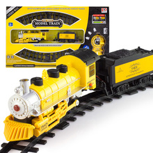 Детский Электрический поезд игрушки классическая крупный самолет, аэробас, рельсы для поезда 17 шт./компл. модель ж/д 1/87 электрический вагон детские игрушки