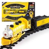 Dzieci elektryczny Kolejowy Dworzec Zabawki Oświecić Train Track 17 sztuk/zestaw Model Railroad Klasyczna 1/87 Elektryczne Kolejowym Samochód zabawka dla dzieci