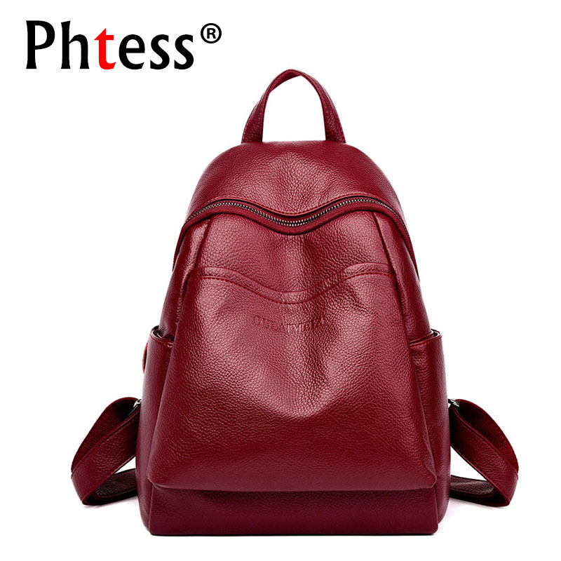 Women Leather Backpacks High Qaulity 2018 Female Travel Shoulder Bag Sac a Dos School Bags Female Backpack Vintage Bagpack Lady hyelec ms89 2000 counts lcr meter ammeter multitester multifunction digital multimeter tester backlight capacitance inductance page 5