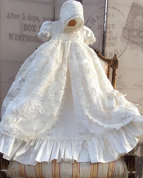 2018 Forró eladás Lolita Keresztelő ruha Kézzel készített baba - Bébi ruházat - Fénykép 1