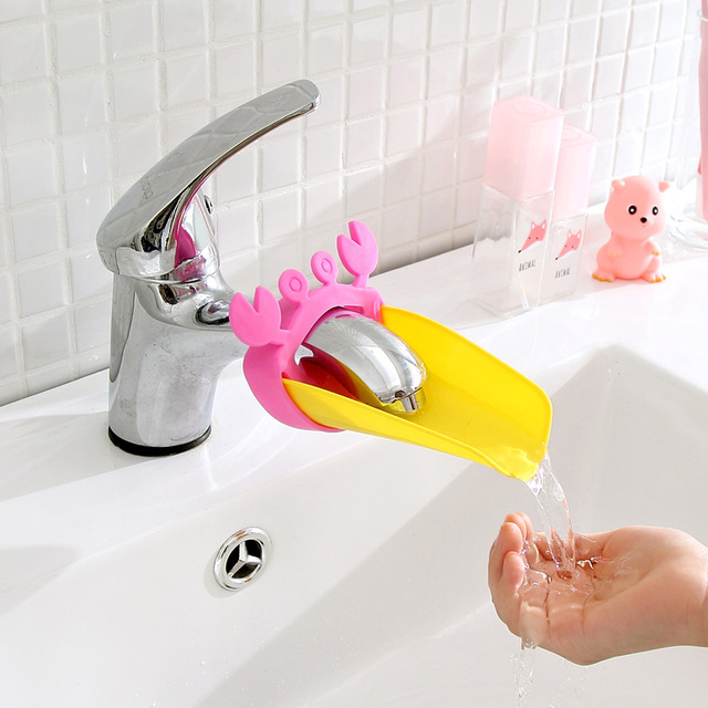 Kitchen And Bathroom Faucet Extender For Kids Washing Storage Rack Faucet  Baby Hand Wash Helper Organizer