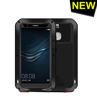 The New Love Mei Slim Waterproof Shockproof Gorilla Glass Metal Aluminum Case Cover For Huawei P9