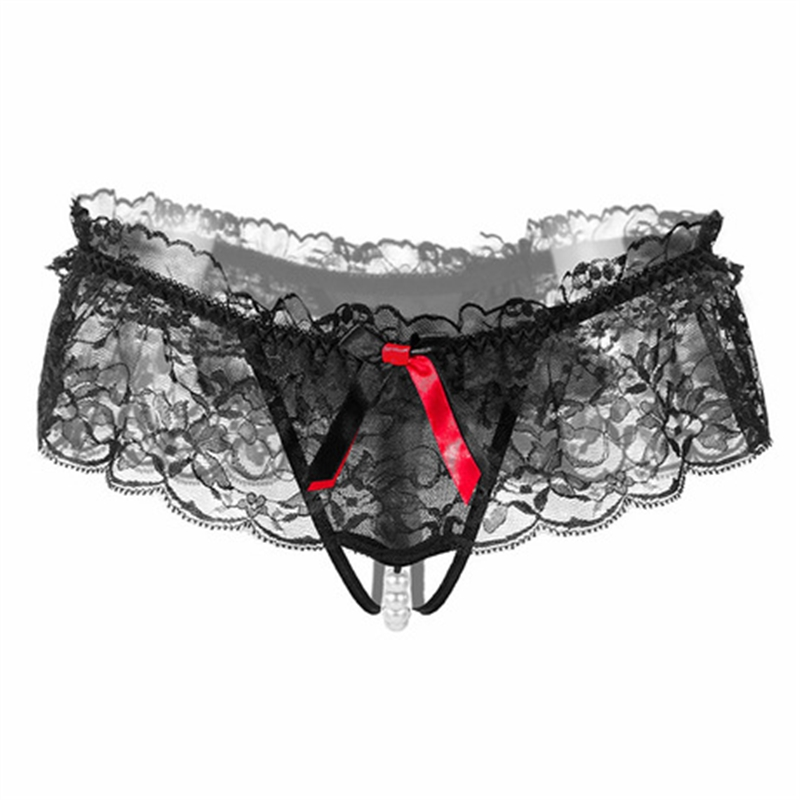 d984cd944f12d3 Women Sexy Underwear Sexy G String Pearls Thongs Erotic Lingerie Sexy  Transparent Panties-in women s panties from Underwear   Sleepwears on  Aliexpress.com ...