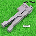 KELUSHI Ideal 45-162 Coaxial Cable Stripper Fiber Optic Wire Stripper Transverse Beam Tube Open and Stripping Knife Loose Casing