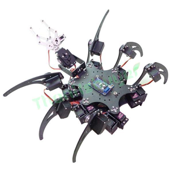 20DOF Aluminium Hexapod Robotic Spider Six Legs Robot Frame Kit (fully compatible) 18dof aluminium hexapod spider six legs robot kit w 18pcs mg996r servo