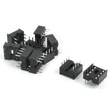 10pcs 8P 8Pins 254mm DIP IC บอร์ด PCB ซ็อก(China)
