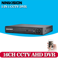 CCTV DVR 16CH Digital Video Recorder AHD 16 Channel AHD NH 1080N Hybrid Input Home Security