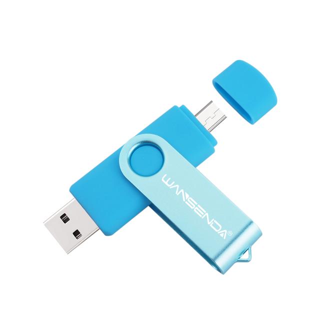 WSD-S100 OTG USB Flash Drive USB 2.0 Smartphone Pen Drive 4gb 8gb 16gb 32gb 64gb Memory Stick External U-Disk Flash Card