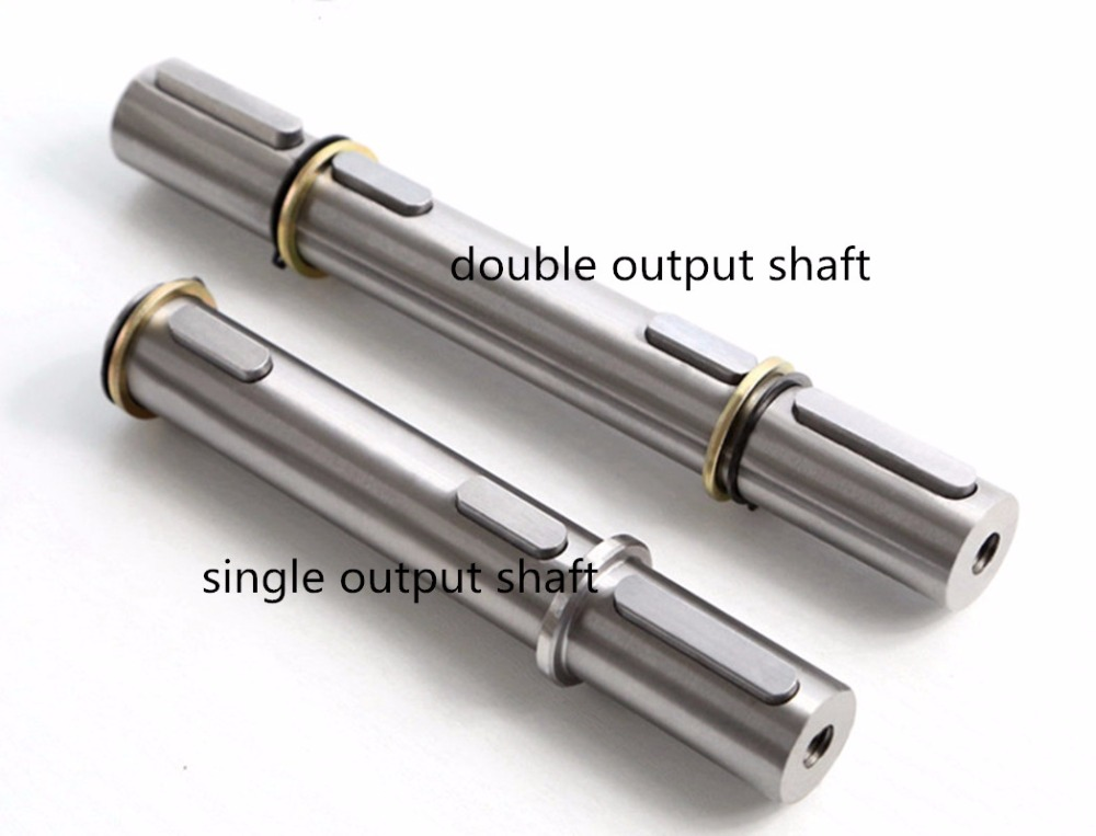 Double shaft NMRV040 Worm gear reducer output shaftDouble shaft NMRV040 Worm gear reducer output shaft