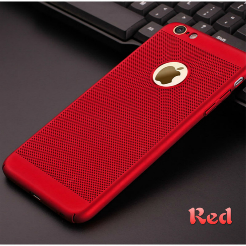 Air Permeable Case For IPhone 5 6 S 7 8 Plus X Matte Shell Heat Dissipation Breathable Abrasive Crust 5