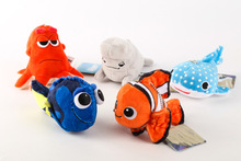 5pcs/1lot Finding Dory Nemo 13cm Plush Stuffed Toy Doll Kid Cushion Christmas Gift Present #1477 Free Shipping