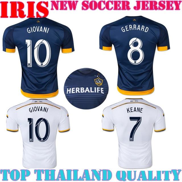 273cb9fb2 LA Galaxy jersey 1516 Los Angeles Galaxy Football Shirt home away GIOVANI  JUNINHO KEANE BECKHAM GERRARD LA GALAXY JERSEY 2016