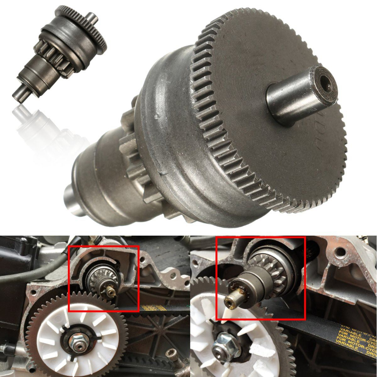 chrome starter motor clutch gear assembly for gy6 49cc 50cc 139qmb scooter mopeds atv in engines from automobiles motorcycles on aliexpress com alibaba  [ 1200 x 1200 Pixel ]