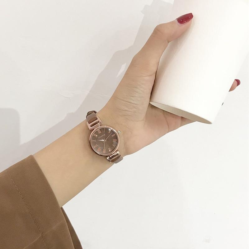 Fashion Thin Strap Roma Women Watches Ulzzang Luxury Brand Ladies Wrist Watch Elegant Design Quartz Female Clock Gifts