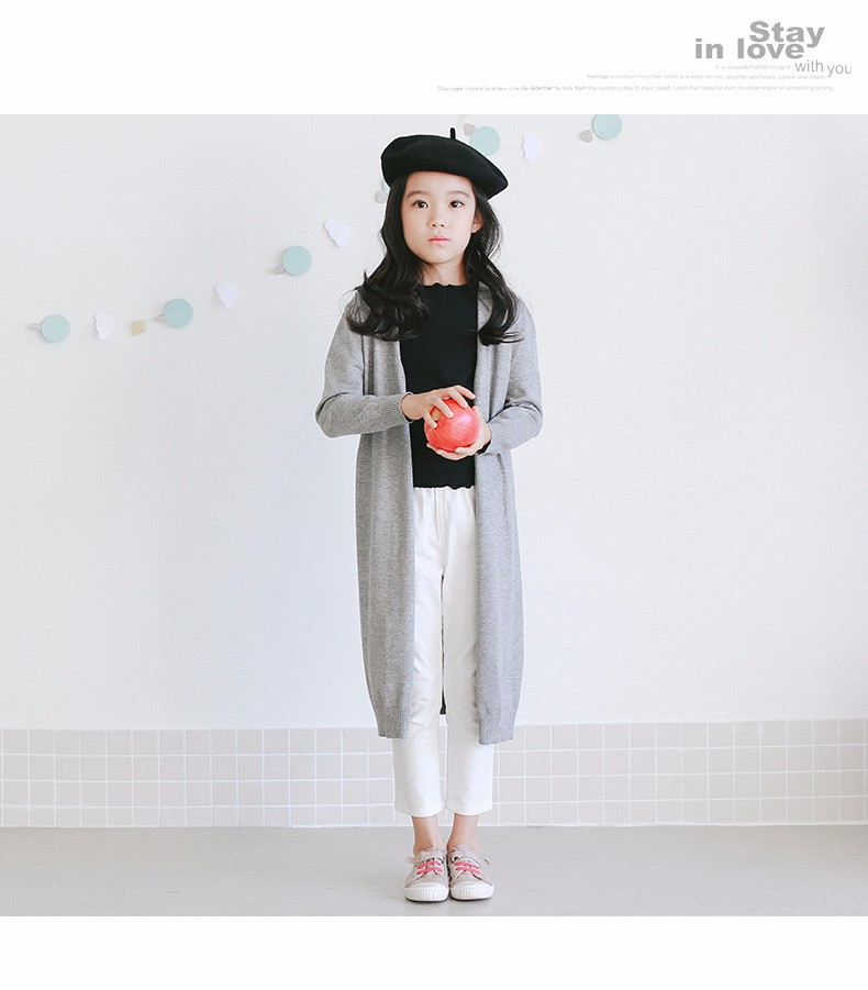 2017 new knitted girls cardigan coats spring autumn long knitting baby big girls sweater red gray black long tops knit sweater  2017g 5 6 7 8 9 10 11 12 13 14 15 16 years old little big teenage girls kids cardigan sweaters (30)