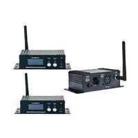 BIG SALE 400M Effective Range Dmx512 Wireless Receiver Transmitter DMX512 LED Lighting Controller Transmitter & Receiver 2in1