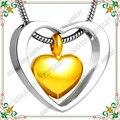 CMJ8078 Silver tone corazón conjunto de pequeño corazón de oro chapado collar de cenizas de Cremación Joyería Encantos con Kit de Llenado