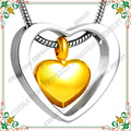 CMJ8078 Silver tone heart set of small gold plated heart Cremation ash necklace Charms with Filling Kit Jewelry
