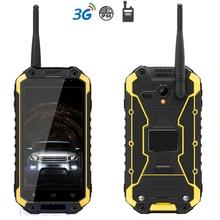 2 GB RAM Teléfono Android Teléfono Inteligente A Prueba de Golpes Resistente A Prueba de agua de Carga Inalámbrica 3G Radio UHF Walkie talkie Teléfono Quad Core GPS
