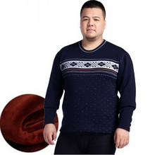 plus width large Men thermal underwear Plus velvet thickening underwear One set 5XL/6XL/111009