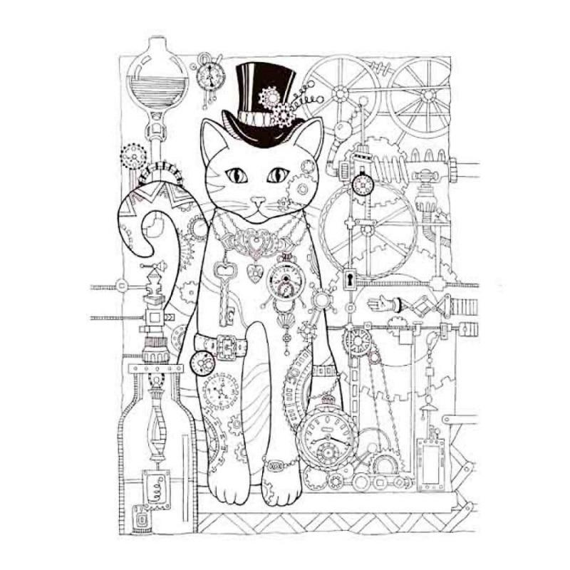Excepcional Gatos Creativos Para Colorear Composición - Dibujos Para ...