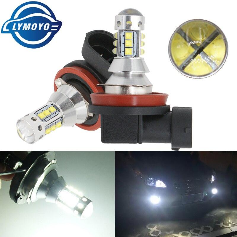 2pcs Car H3/9005/9006/H8/H11/P13W/H4/H7/H16/881/H1 16SMD LED With Cree Chips Fog Lamp 80W 16LED Tail Lights DRL  Fog Light Bulb